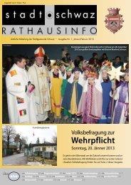 PDF Rathausinfo Nr. 01/2013 - Schwaz