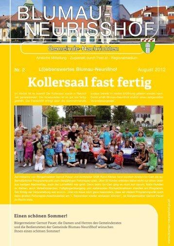 Gemeindezeitung vom August 2012 - Blumau Neurißhof