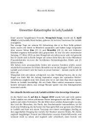 Unwetter‐Katastrophe in Leh/Ladakh - Ladakh-Reisen.de