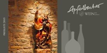 Weinpreisliste 2013