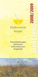 jahresprogrammjahresprogramm - Förderverein Hospiz Ettlingen eV