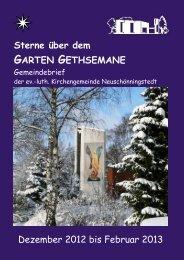 Dezember 2012 bis Februar 2013 - Kirchengemeinde Gethsemane