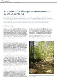 Kriterien für Biosphärenreservate in Deutschland - Unesco