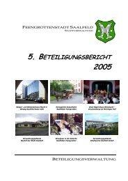 Beteiligungsbericht 2005.pdf - Saalfeld