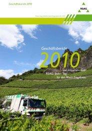 Geschäftsbericht 2010 - RSAG