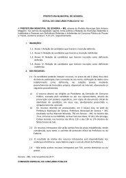 Edital 004/2011 - Prefeitura Municipal de Sonora