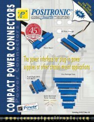 Compact Power Connector Catalog - Positronic Industries Inc