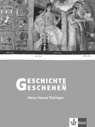 Meine Heimat Thüringen - Ernst Klett Verlag