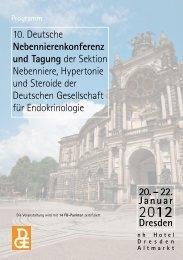 10. Deutsche Nebennierenkonferenz und Tagung der Sektion ...