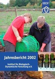Jahresbericht 2002 - Forschungsring
