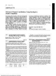 Young Investigators Awards Competition - Journal of the American ...
