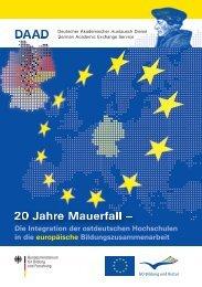 Die Integration der ostdeutschen Hochschulen in die ... - EU - DAAD