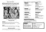adlershofer gemeindeanzeiger - Evangelische Kirchengemeinde