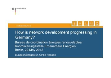 German Network Development Plan - Bureau de coordination ...