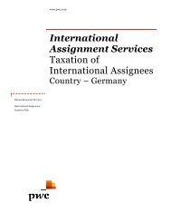 Internationa Assignment S Taxation of International A ... - PwC