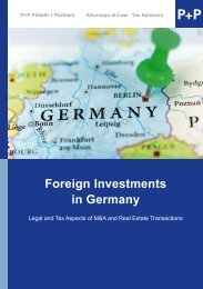 Foreign Investments in Germany - P+P Pöllath + Partners