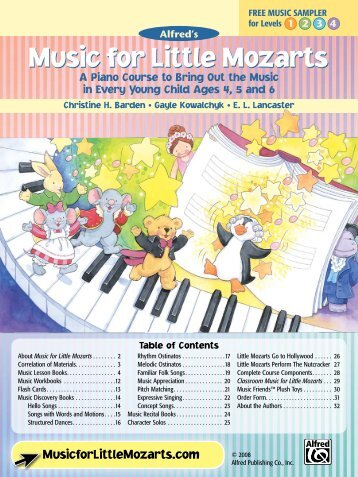 Music for Little Mozarts - Alfred Music Publishing