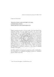 Translation And Intercultural Communication: Similarities And
