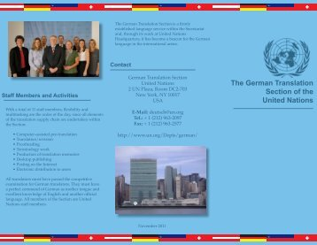 The German Translation Section of the United Nations