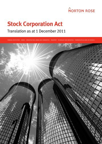 German Stock Corporation Act - English translation - Norton Rose