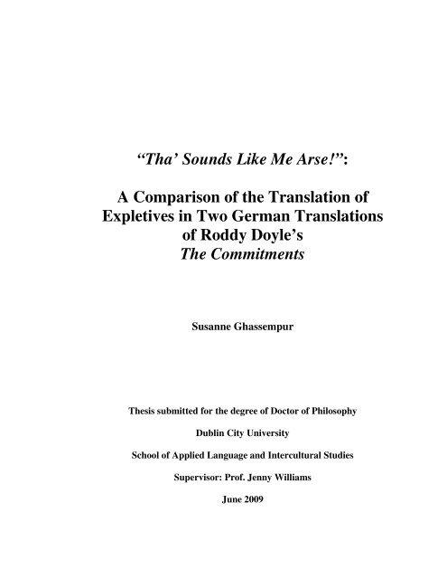 Tha Sounds Like Me Arse A Comparison Of The Translation