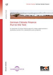 German Climate Finance - Put to the Test - Germanwatch