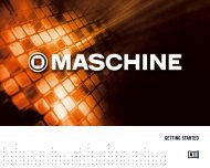 MASCHINE Getting Started English - American Musical Supply