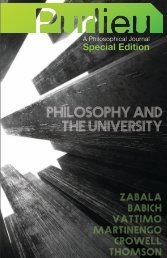 PHILOSOPHY AND tHE - Purlieu