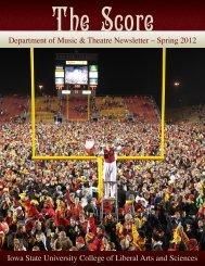Spring 2012 Music - Iowa State University Department of Music