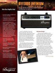 Valve Bass Amplifier Head INFINIUM Valve Life Multiplier - BUGERA
