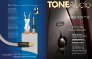Standard Resolution Version 23MB - TONEAudio MAGAZINE