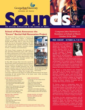 Sounds - Georgia State University School of Music