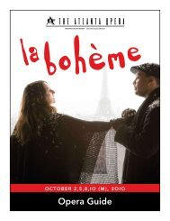 La bohème - The Atlanta Opera