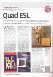 Article; Quad ESL Hi Fi News Sept 2009 - meridian-audio[.info]