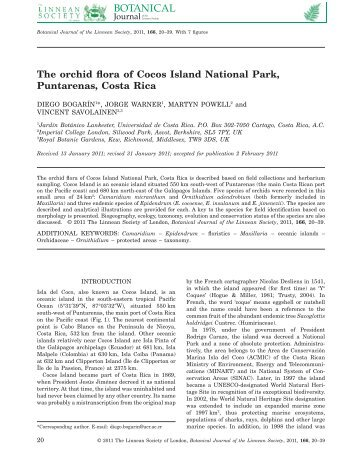 The orchid flora of Cocos Island National Park ... - Epidendra