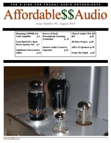 Issue Number 56: August 2010 - Affordable$$Audio