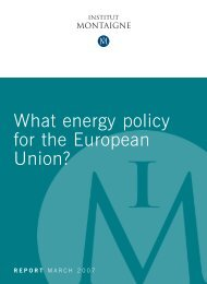 What energy policy for the European Union - L'Institut Montaigne