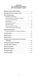 Convention Program (PDF) - Audio Engineering Society