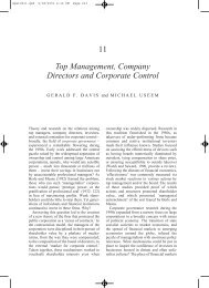 11 Top Management, Company Directors and Corporate Control