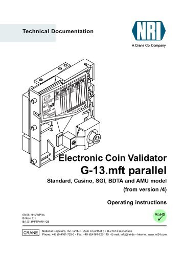 RS232 Interface for Coin Validators WF-700-RELAY User Manual