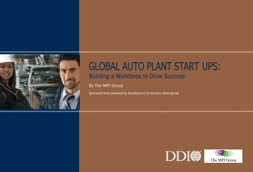 global auto plant start ups - Development Dimensions International