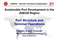 ASEAN – German Technical Cooperation - Sustainable Port ...
