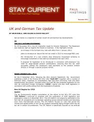 UK and German Tax Update - Paul Hastings
