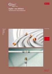 Kupfer – neu definiert Technische Informationen - KME