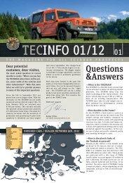 TECINFO 01/12 - TRAVEC Automotive GmbH