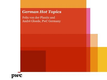 German Hot Topics - PwC