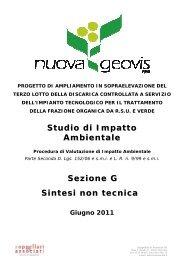 Sez.G Sintesi non tecnica - Provincia di Bologna