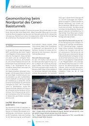 Geomonitoring beim Nordportal des Ceneri- Basistunnels