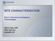 SITE CHARACTERIZATION Part 2: Intrusive Investigation ...