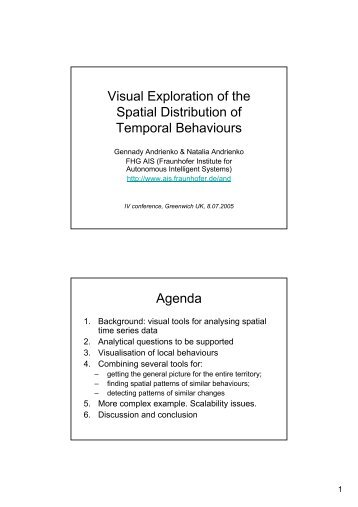 Visual Exploration of the Spatial Distribution of Temporal Behaviours ...